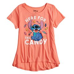 Disney's Stitch Girls 7-16 'Here for the Candy' Tee