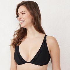Women's LC Lauren Conrad Ruffle Halter Bikini Top