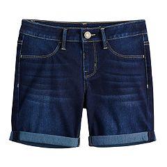 Girls 7-16 SO® Knit Denim Midi Shorts