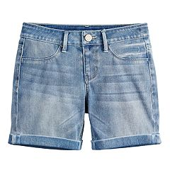 Girls 7-16 & Plus Size SO Cuffed Midi Jean Shorts