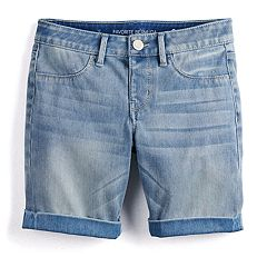 Girls SO® Denim Bermuda Shorts