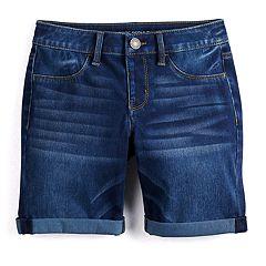Girls SO® Denim Bermuda Shorts