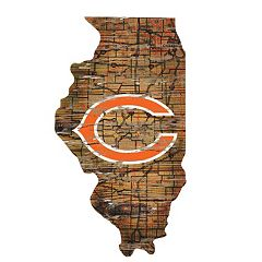 Chicago Bears State Sign Wall Art