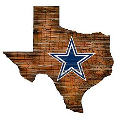 Dallas Cowboys State Sign Wall Art