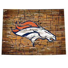 Denver Broncos State Sign Wall Art
