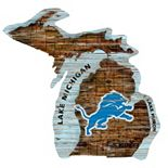 Detroit Lions State Sign Wall Art