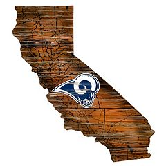 Los Angeles Rams State Sign Wall Art