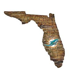 Miami Dolphins State Sign Wall Art