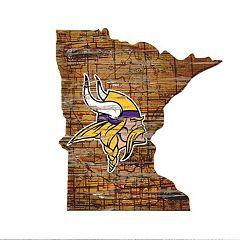 Minnesota Vikings State Sign Wall Art