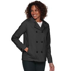 Women's Croft & Barrow Cropped Trench Jacket