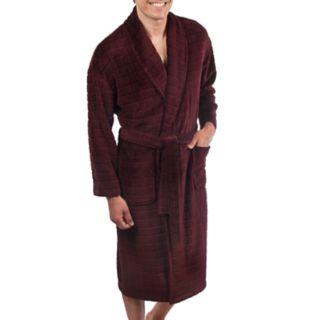 Men's Residence Plush Shawl-Collar Fleece Robe