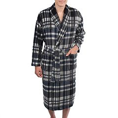 Men's Residence Plush Shawl-Collar Fleece Robe