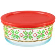 Pyrex Round 4-cup Fairisle Sweater Food Storage Container