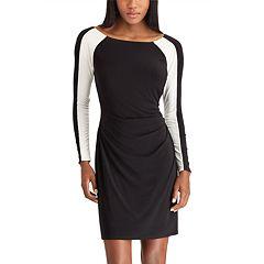 Plus Size Chaps Colorblock Sheath Dress