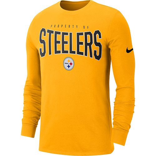 Men's Nike Pittsburgh Steelers Property Of Long-Sleeve Tee