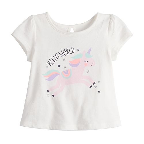 Baby Girl Jumping Beans® Graphic Swing Tee