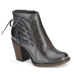 Olivia Miller Hughes Women's Side Lace-Up Ankle Boots