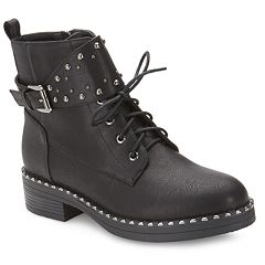 Olivia Miller Marshall Women's Studded Combat Boots