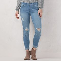 Women's LC Lauren Conrad Feel Good Cuffed Midrise Skinny Ankle Jeans