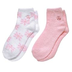 Earth Therapeutics 2-pk. Snowflake Aloe Socks