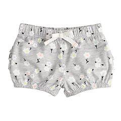 Baby Girl Jumping Beans® Ruffled Print Bubble Shorts