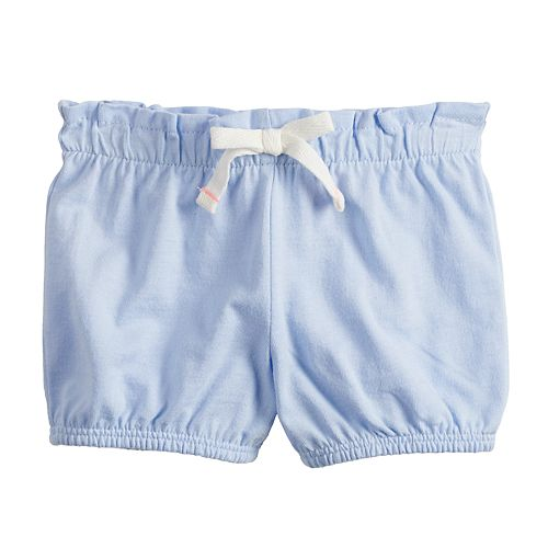 Baby Girl Jumping Beans® Paperbag-Waist Bubble Shorts