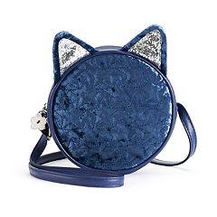 Girls Limited Too Star Quilted Velvet Kitty Cat Handbag