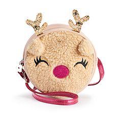 Girls Limited Too Sherpa Reindeer Handbag