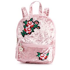 Girls Limited Too Crushed Velvet Floral Mini Backpack