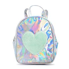 Girls Limited Too Plush Heart Mini Backpack