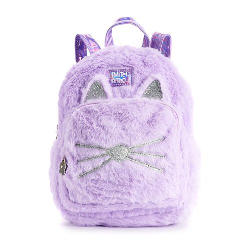 Girls Limited Too Kitty Cat Plush Mini Backback