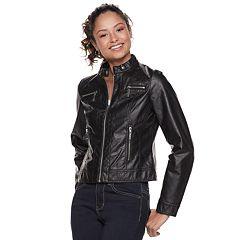 Juniors' J-2 Faux Leather Moto Jacket