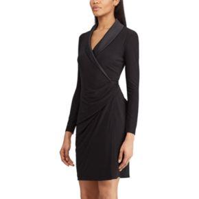 Women's Chaps Faux-Wrap Dress