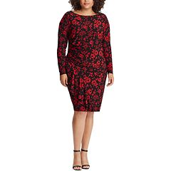 Plus Size Chaps Floral Sheath Dress