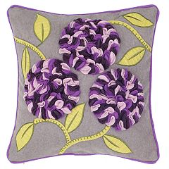 Rizzy Home 3D Floral Transitional Throw Pillow