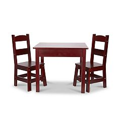Melissa & Doug Espresso Wooden Table & Chairs Set