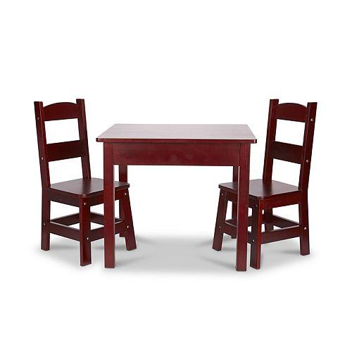 Melissa & Doug Espresso Wooden Table & Chairs Set
