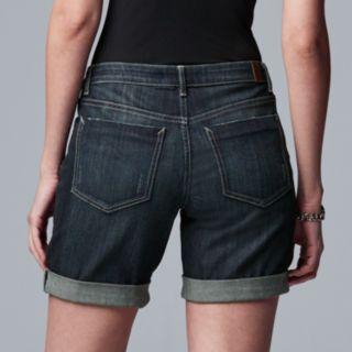 Women's Simply Vera Vera Wang Roll Cuff Midrise Jean Shorts