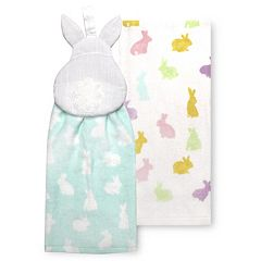 Celebrate Easter Together Easter Bunny Tie-Top Kitchen Towel 2-pk.