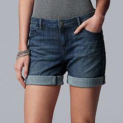 Women's Simply Vera Vera Wang Roll-Cuff Midrise Jean Shorts