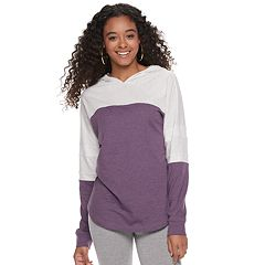 Juniors' SO® Colorblock Dorm Hoodie