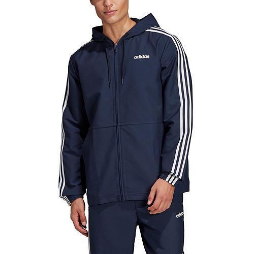 Big & Tall adidas Essential 3-Stripe Hooded Wind Jacket