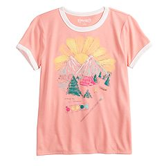 a2260c14a Girls 7-16 & Plus Size Mudd® Short Sleeve Graphic Ringer Tee