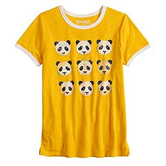 Girls 7-16 & Plus Size Mudd® Short Sleeve Graphic Ringer Tee