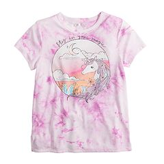 db95edcd8 Girls 7-16 & Plus Size Mudd® Short Sleeve Graphic Tee. Hamsa Henna Purple  Hand Lemons Camo ...
