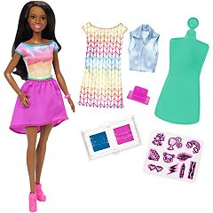 Barbie Crayola Color Stamp Fashion Doll Set