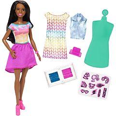 Barbie Crayola Color Stamp Fashion Doll Set