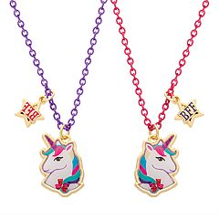 Girls 4-16 Elli by Capelli Unicorn Best Friends Necklace Set