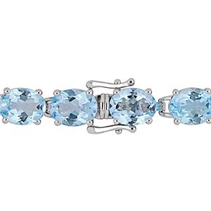 Stella Grace Sterling Silver Blue Topaz Bracelet
