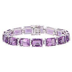 Stella Grace Sterling Silver Amethyst Tennis Bracelet